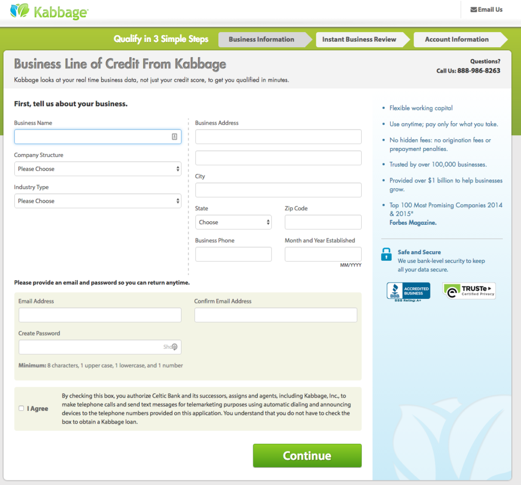 Kabbage review loan application